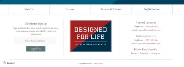 Footer Design www.bestmadeco.com