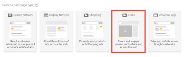 Google Adwords Video Campaign
