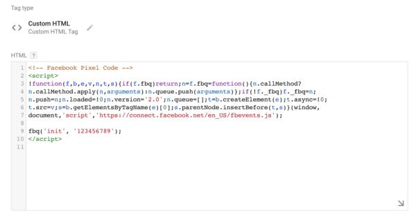Facebook Pixel Code ที่ไม่มี PageView