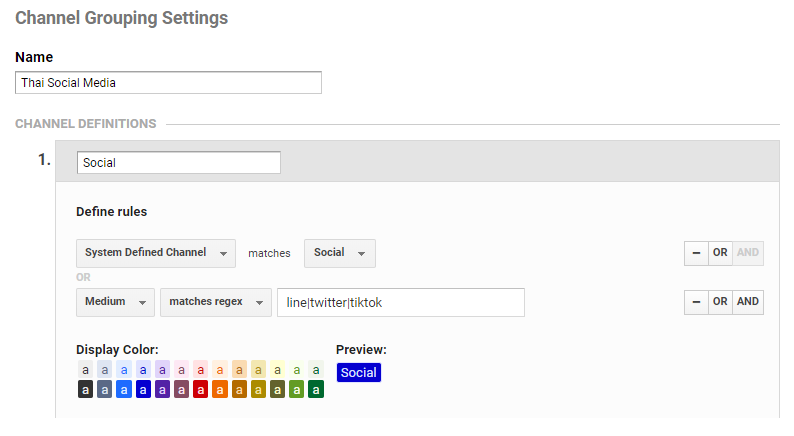 วิธีสร้าง CUSTOM CHANNEL GROUPING Step 02